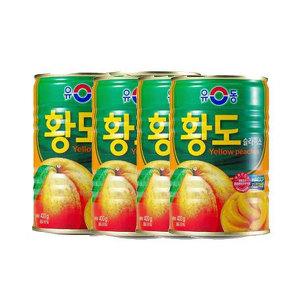 [원더배송] 유동 황도슬라이스400gX4