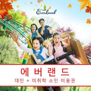 에버랜드 대인+미취학소인PKG ~10/31