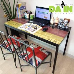빈티지 스틸 컴퓨터책상/테이블/식탁