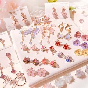 [무료배송] 꽃 귀걸이,반지 세트