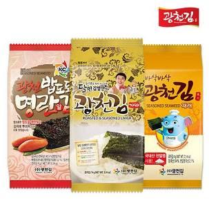 [베스트픽] 광천김 도시락김 26종