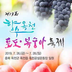 [반값특가-파랑] 옥천포도복숭아축제