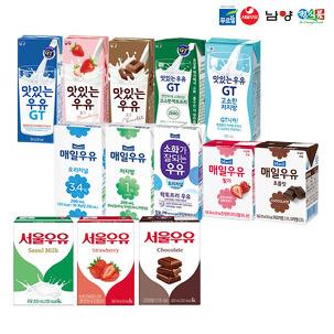 [푸드픽] 멸균우유 서울우유 24팩