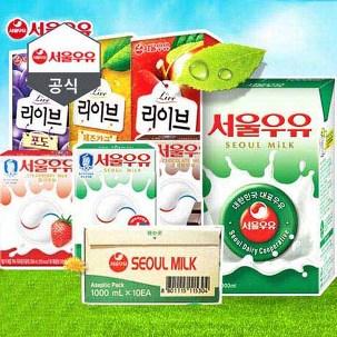 서울 멸균우유 1L 10팩 특가
