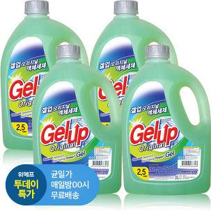 [투데이특가] 겔업 액체세제 2.5 X 4