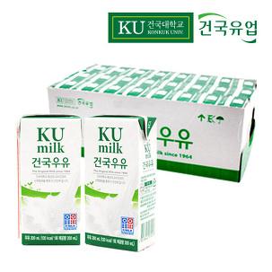 건국유업 멸균우유 200ml 1박스 24팩