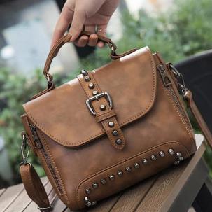 [무료배송] 여성 가죽 핸드백 숄더백