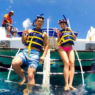 [쿠폰할인] 괌알루팡 비치돌핀크루즈 2019-12-11 02 돌핀크루즈 All Day Special B - 돌핀크루즈 + 제트스키 성인