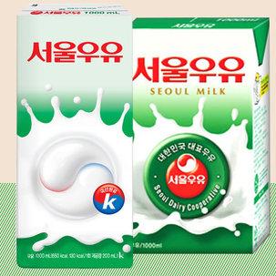 [무료배송] 서울멸균우유1000ml 10팩