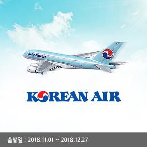 [전국出] 대한항공 왕복항공권+족욕