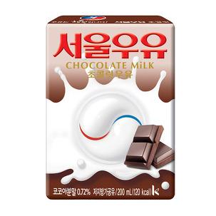 서울 멸균 초코우유 200ml x 24팩