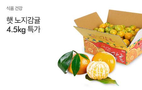 [today_pick6][원더픽]깨비농원 햇 노지감귤 4.5kg