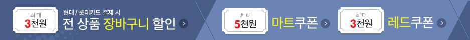 현대/롯데카드 / 마트쿠폰 / 레드쿠폰 (10:00~)