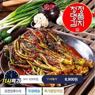 [11시특가] 청정명품 돌산갓김치 2kg