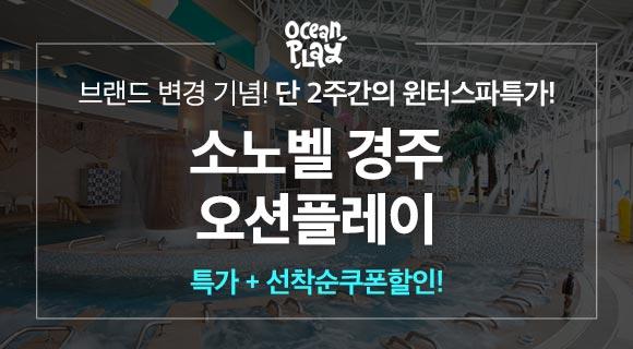 [단독/쿠폰] 소노벨경주 오션플레이