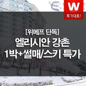 [설레는특가] 엘리시안강촌 +썰매3인